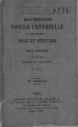 Résurrection sociale universelle : cris et soupirs 5e série