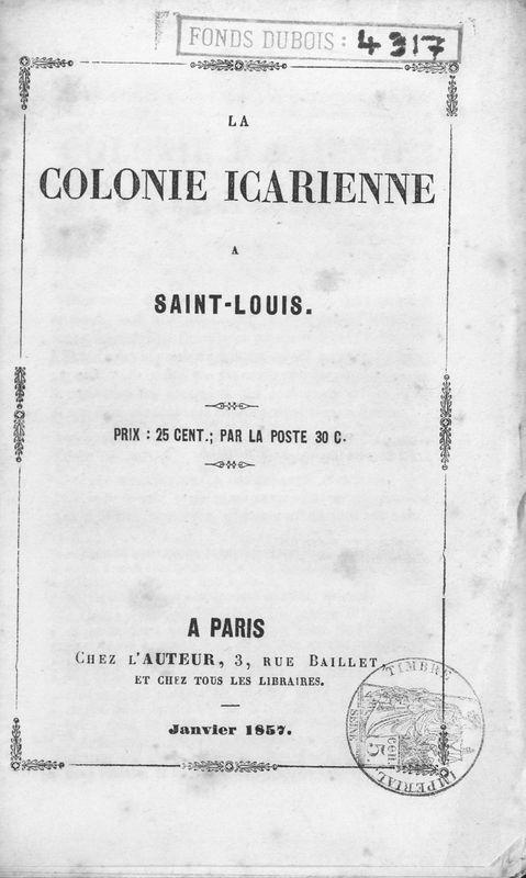 La colonie icarienne à Saint-Louis