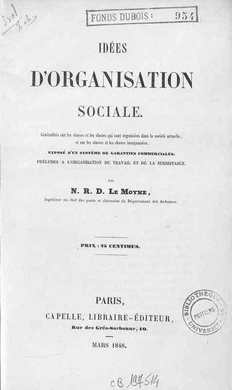 Idées d'organisation sociale