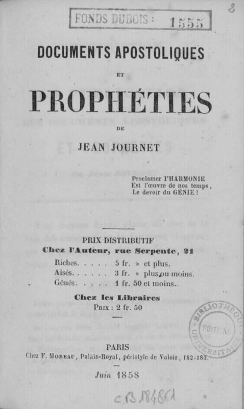 Documents apostoliques et prophéties