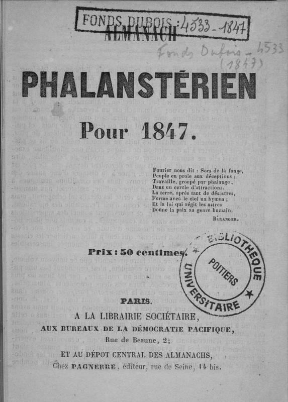 Almanach phalanstérien pour 1847