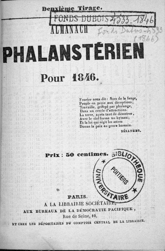 Almanach phalanstérien pour 1846