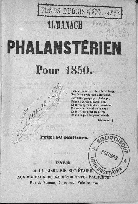 Almanach phalanstérien pour 1850